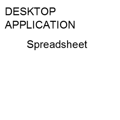 Desktop computer application using spreadsheet