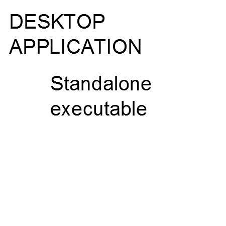 Desktop computer application, standalone executable file