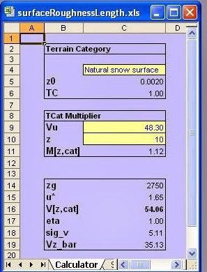 Wind surface roughness